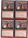 Magic the Gathering Theros PLAYSET Purphoros, God of the Forge X4 - NEAR MINT (NM)