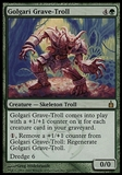Magic the Gathering Ravnica: City of Guilds Single Golgari Grave-Troll FOIL - MODERATE PLAY (MP)