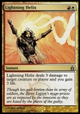 Magic the Gathering Ravnica: City of Guilds Single Lightning Helix - SLIGHT PLAY (SP)