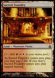 Magic the Gathering Ravnica: City of Guilds Single Sacred Foundry - MODERATE PLAY (MP)