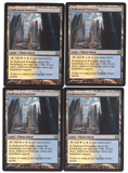 Magic the Gathering Return to Ravnica PLAYSET Hallowed Fountain X4 - SLIGHT PLAY (SP)