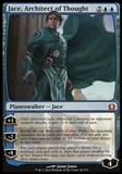 Magic the Gathering Return to Ravnica Single Jace, Architect of Thought FOIL - SLIGHT PLAY (SP)