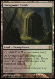 Magic the Gathering Return to Ravnica Single Overgrown Tomb FOIL - SLIGHT PLAY (SP)