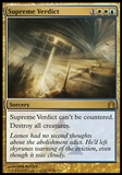 Magic the Gathering Return to Ravnica Single Supreme Verdict FOIL - SLIGHT PLAY (SP)