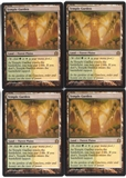 Magic the Gathering Return to Ravnica PLAYSET Temple Garden X4 - NEAR MINT (NM)