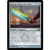 Magic the Gathering Scars of Mirrodin Single Sword of Body and Mind - SLIGHT PLAY (SP)