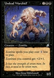 Magic the Gathering Scourge Single Undead Warchief FOIL - MODERATE PLAY (MP)