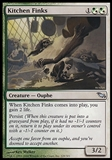 Magic the Gathering Shadowmoor Single Kitchen Finks FOIL - MODERATE PLAY (MP)