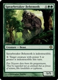 Magic the Gathering Shards of Alara Single Spearbreaker Behemoth FOIL - NEAR MINT (NM)