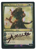 Magic the Gathering Journey into Nyx Single Ajani, Mentor of Heroes FOIL (SIGNED ) - NEAR MINT (NM)