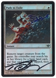 Magic the Gathering Conflux Single Path to Exile FOIL (Artist Signed and Altered) - SLIGHT PLAY (SP)