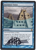 Magic the Gathering Time Spiral Single Ancestral Vision (Signed by Artist) - NEAR MINT (NM)