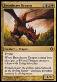 Magic the Gathering Shards of Alara Single Broodmate Dragon - MODERATE PLAY (MP)
