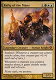 Magic the Gathering Shards of Alara Single Rafiq of the Many - SLIGHT PLAY (SP)