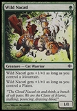 Magic the Gathering Shards of Alara Single Wild Nacatl FOIL - SLIGHT PLAY (SP)