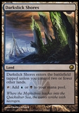 Magic the Gathering Scars of Mirrodin Single Darkslick Shores FOIL - SLIGHT PLAY (SP)