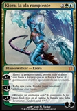Magic the Gathering Born of the Gods SPANISH Single Kiora, the Crashing Wave - NEAR MINT