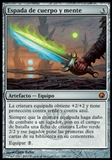 Magic the Gathering Scars of Mirrodin SPANISH Single Sword of Body and Mind - SLIGHT PLAY (SP)