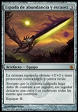 Magic the Gathering Mirrodin Besieged SPANISH Single Sword of Feast and Famine - SLIGHT PLAY (SP)