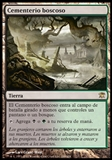 Magic the Gathering Innistrad SPANISH Single Woodland Cemetery - NEAR MINT (NM)