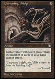 Magic the Gathering Stronghold Single Ensnaring Bridge - HEAVY PLAY (HP)