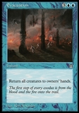 Magic the Gathering Stronghold Single Evacuation - SLIGHT PLAY (SP)
