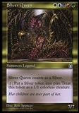 Magic the Gathering Stronghold JAPANESE Single Sliver Queen - MODERATE PLAY (MP)