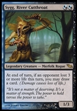 Magic the Gathering Shadowmoor Single Sygg, River Cutthroat FOIL - SLIGHT PLAY (SP)
