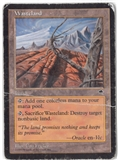 Magic the Gathering Tempest Single Wasteland (Damaged)