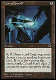 Magic the Gathering Tempest FRENCH Single Cursed Scroll - NEAR MINT (NM)