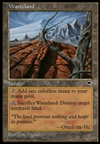 Magic the Gathering Tempest CHINESE Single Wasteland - SLIGHT PLAY (SP)