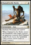 Magic the Gathering Theros Single Chained to the Rocks - SLIGHT PLAY (SP)