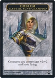 Magic the Gathering Theros Single Elspeth, Sun's Champion Emblem - NEAR MINT (NM)