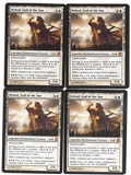Magic the Gathering Theros PLAYSET Heliod, God of the Sun X4 - SLIGHT PLAY (SP)