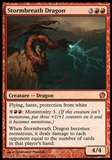 Magic the Gathering Theros Single Stormbreath Dragon - SLIGHT PLAY (SP)