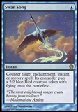 Magic the Gathering Theros Single Swan Song FOIL - SLIGHT PLAY (SP)