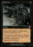 Magic the Gathering Time Spiral Single Darkness - MODERATE PLAY (MP)