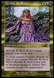 Magic the Gathering Time Spiral Single Merieke Ri Berit FOIL - SLIGHT PLAY (SP)
