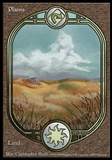 Magic the Gathering Unglued Single Basic Plains - MODERATE PLAY (MP)