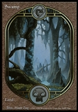 Magic the Gathering Unglued Single Basic Swamp - SLIGHT PLAY (SP)