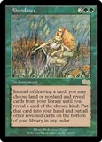Magic the Gathering Urza's Saga Single Abundance - NEAR MINT (NM)