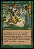 Magic the Gathering Urza's Legacy Single Defense of the Heart FOIL - MODERATE PLAY