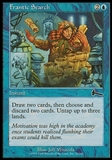 Magic the Gathering Urza's Legacy Single Frantic Search FOIL - SLIGHT PLAY (SP)
