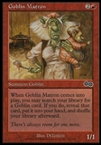 Magic the Gathering Urza's Saga Single Goblin Matron - SLIGHT PLAY (SP)