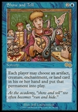 Magic the Gathering Urza's Saga Single Show and Tell - MODERATE PLAY (MP)