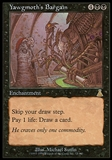 Magic the Gathering Urza's Legacy Single Yawgmoth's Bargain - MODERATE PLAY (MP)