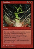 Magic the Gathering Visions Single Fireblast - SLIGHTLY PLAYED (SP)