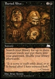 Magic the Gathering Weatherlight Single Buried Alive - MODERATELY PLAYED (MP)