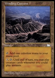 Magic the Gathering Weatherlight Single Winding Canyons - MODERATE PLAY (MP)