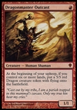 Magic the Gathering Worldwake Single Dragonmaster Outcast - SLIGHT PLAY (SP)